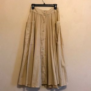 70's Vintage Button Down Skirt with Pockets